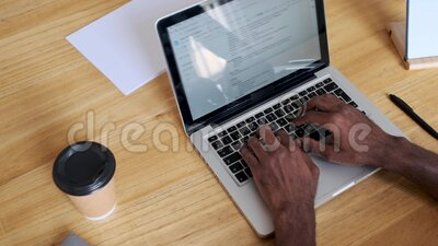 A man's hands using the computer keyboard in the office. Close-up of a man's hands using the computer keyboard in the office stock video
