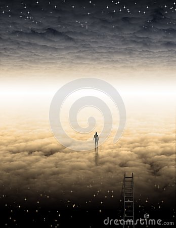 Free Man`s Journey Of The Soul Royalty Free Stock Photo - 126331325