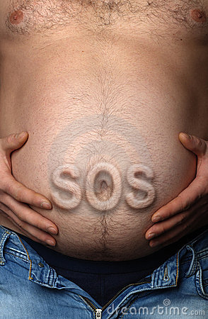 Man s stomach