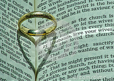 Man39s wedding ring has deeper religious meaning stock for Wedding ring meaning bible