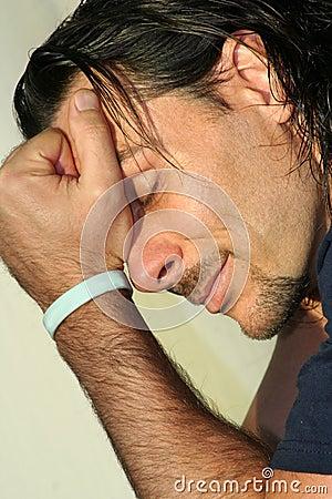 Free Man Sad But Serene Concept Stock Image - 4331671