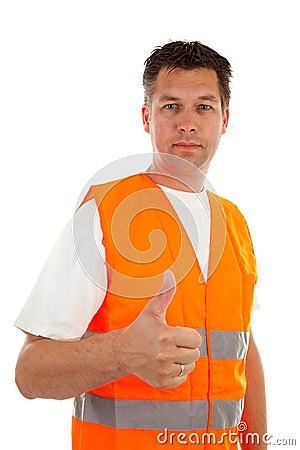 Man in safety vest