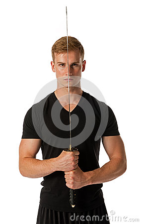 Man with Samurai sword
