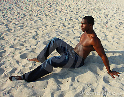 Man On The Sand