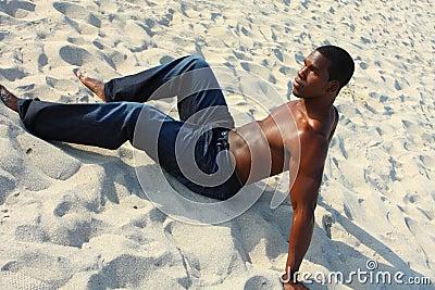Man On The Sand