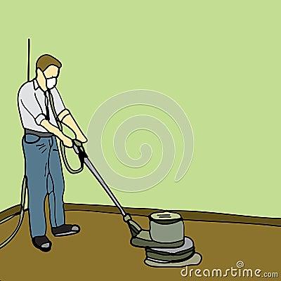 Man Sanding Floor Royalty Free Stock Photo Image 8335695