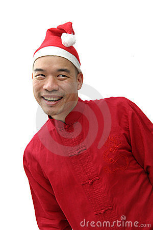 Man in santa s hat