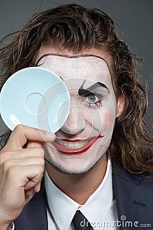 Man with saucer