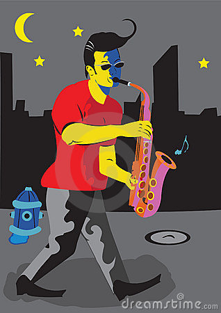 A man with sax