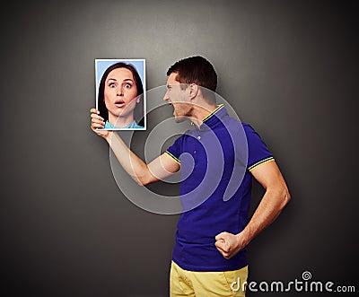 Man screaming at his woman