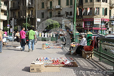 A man selling revolution souvenirs in cairo egypt Editorial Photo