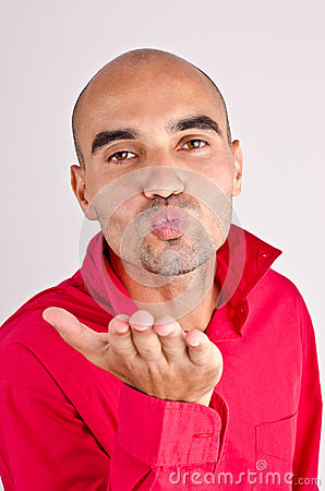 Man sending a kiss.