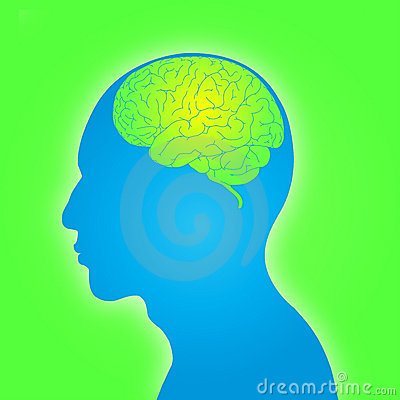 Man shape with brain