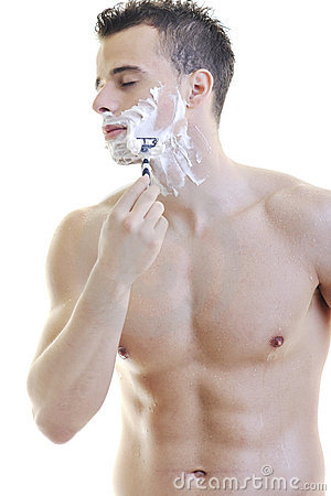 Man shave