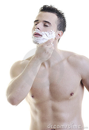 Man shave