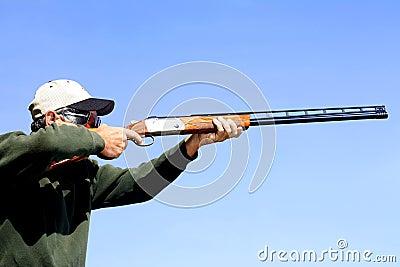 Man Shooting Skeet