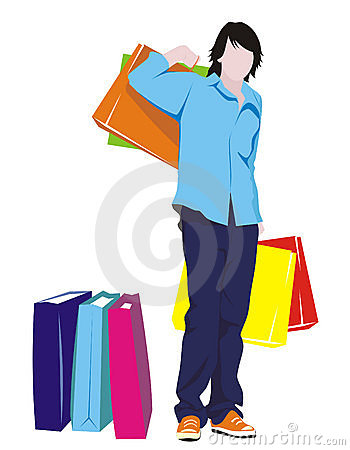 Man with shopping
