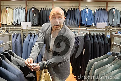 Man in a shopping mall