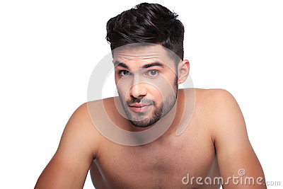 Man with short beard looking a little surprised