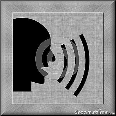 Man shouting button