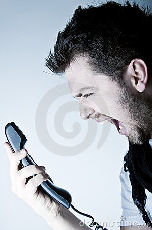 Free Man Shouting On The Phone Stock Photos - 18815173