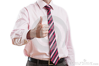 Man showing gesture of acceptance