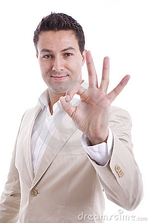 Man showing ok gesture