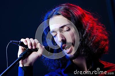 Man singing at the concert