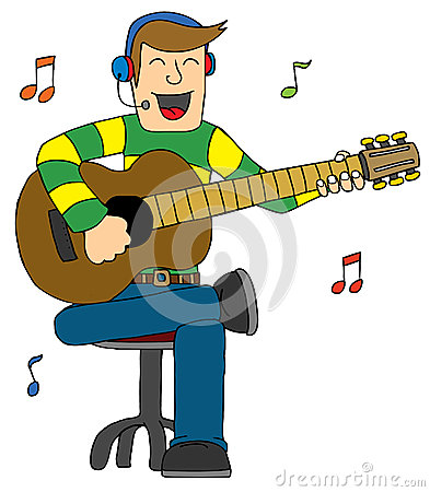 Man Singing with Guitar