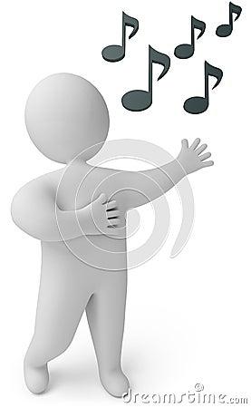 A man sings