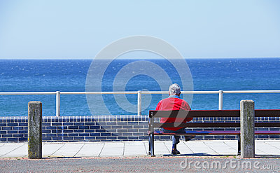 Man sitting on bench
