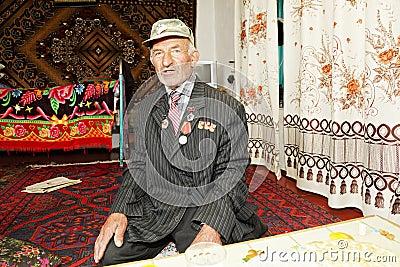 Man sitting on carpet