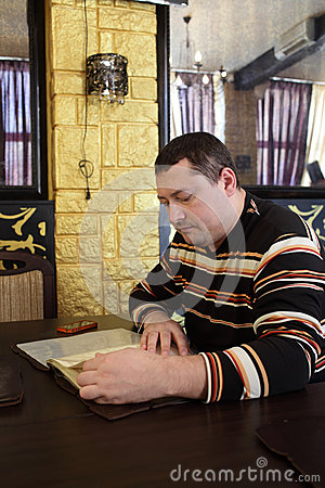 Man with menu