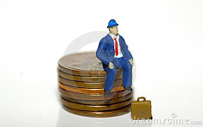 Man Sitting On Pennies