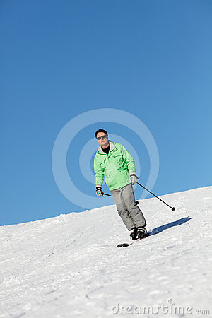 Man On Ski Holiday