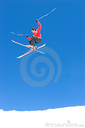 Free Man Skiing On Slopes Of Pradollano Ski Resort In Spain Royalty Free Stock Photography - 681587