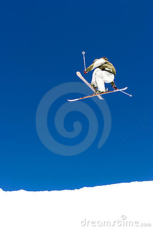 Free Man Skiing On Slopes Of Pradollano Ski Resort In Spain Stock Images - 681594