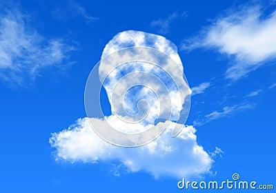 Man on the sky