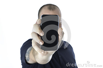 Man and smartphone