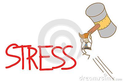 Man smashing stress