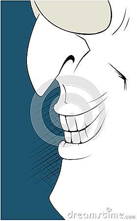 Man smile