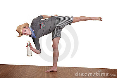 Man Smokes While Exercising
