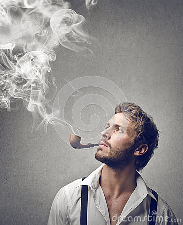 Old fashioned smoking pipes 7