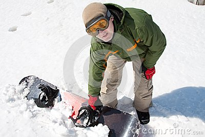 Man with snowboard