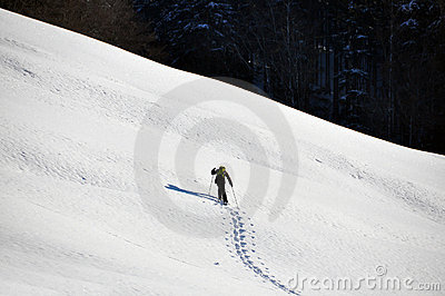 Man in snowshoe