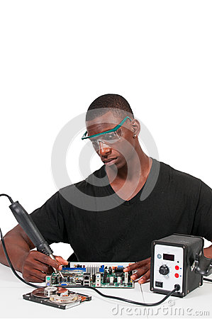 Free Man Soldering Royalty Free Stock Photography - 44099087