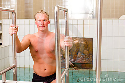 Man in Spa Pool