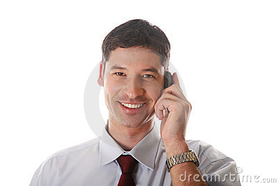 Man speaking on the phone