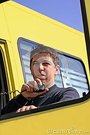 Man speaking on the radio