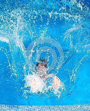 Man splashing